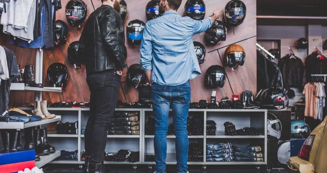 buying a motorcycle helmet